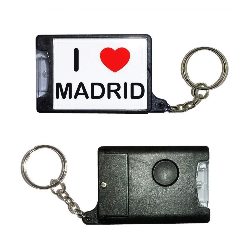 BadgeBeast.co.uk I Love Madrid - Llavero con antorcha negra ...