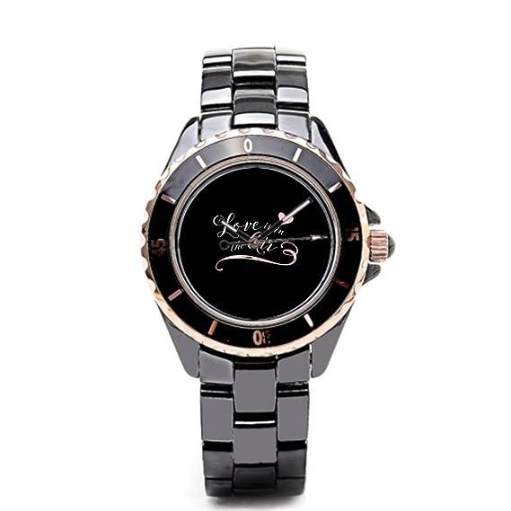 sjfy reloj de pulsera banda de cerámica de damas de honor de novia en línea para hombre relojes: Amazon.es: Relojes