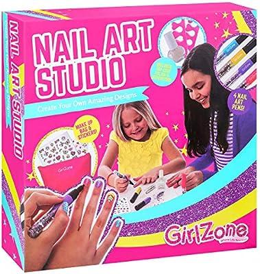 GirlZone Regalos para Niñas | Pintauñas Niñas | Diseña Tus Uñas | Set Maquillaje Niña: Decora Tus Uñas | Set Manicura Niñas 6 7 8 9 10 11 12 años | ...