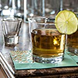 Anchor Hocking Heavy Base Rocks Old Fashioned Whiskey Glasses, 9 oz (Set of 12)