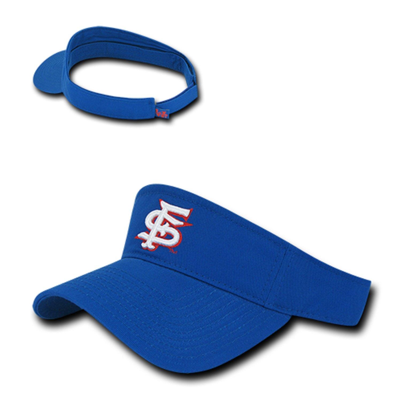 6368c08df58 BHFC University of Fresno State Bulldogs Cotton Polo Sun Golf Tennis Visor Cap  Hat at Amazon Men s Clothing store