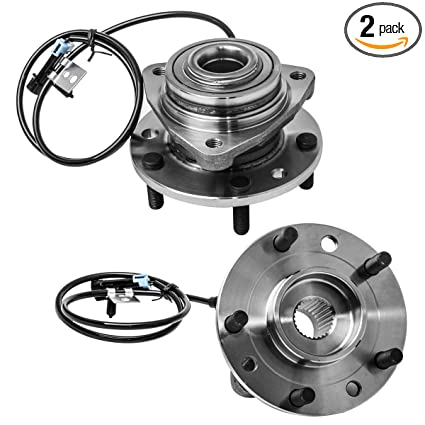 Front Wheel Hub and Bearing Assembly Left or Right Compatible Chevrolet S10  Blazer GMC Jimmy Sonoma Isuzu Hombre Oldsmobile Bravada AUQDD 513124 x2