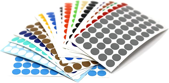 Alea Tools Metal Stickers 50 One-Inch Circles