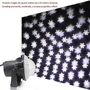 Lixada AC85V-240V 5W LED Mini Proyector Luz Leds Caída de Nieve ...