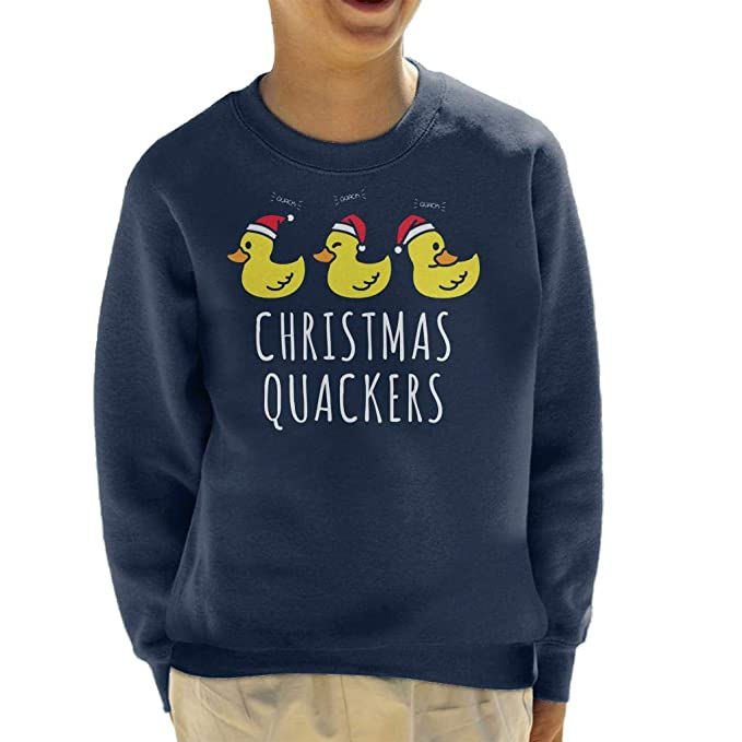 Coto7 Christmas Quackers Kids Sweatshirt
