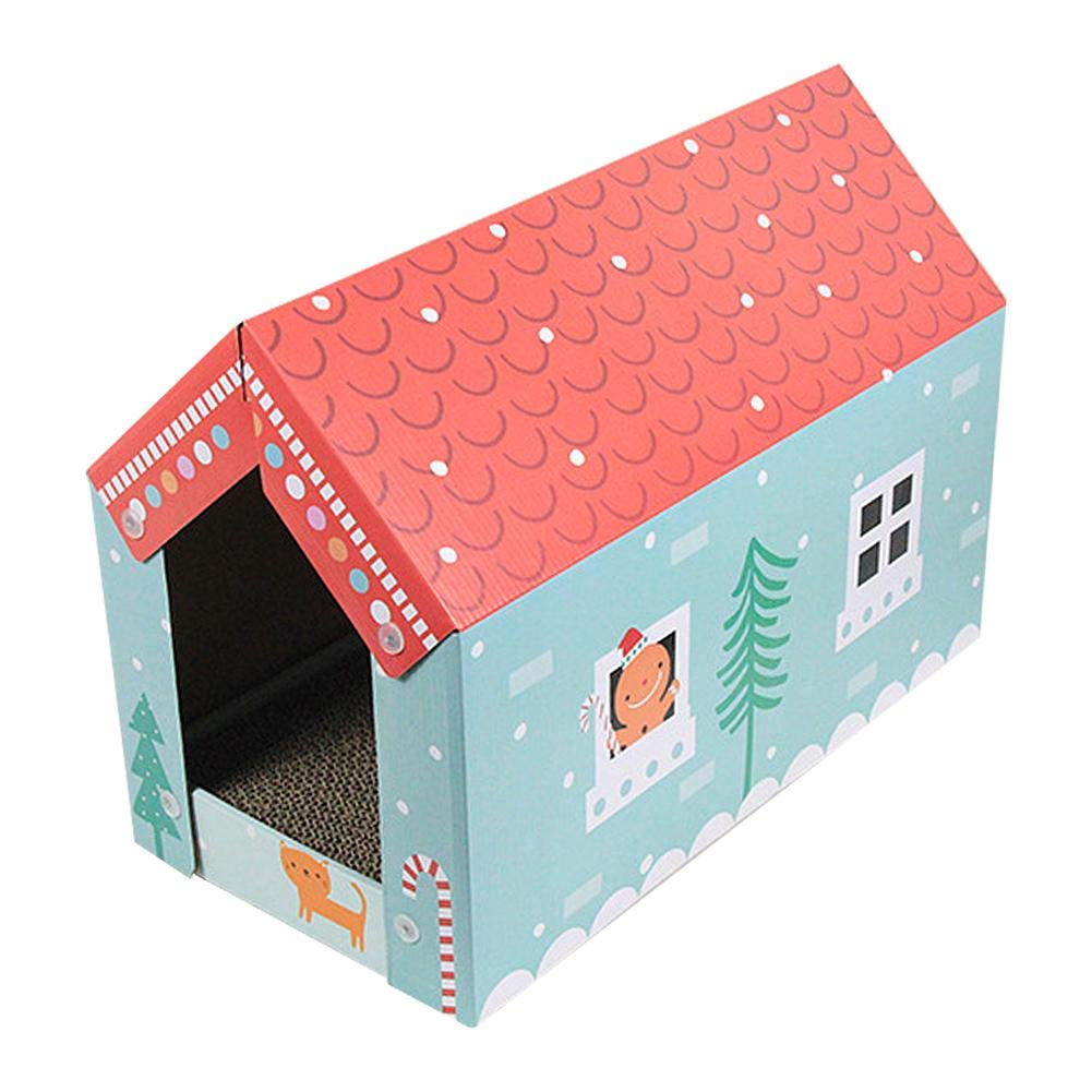 alloet Corrugated Paper Cat Grab Board Wear-Resistant Cat House Grinder Kitten Toy