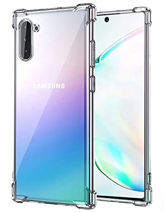 Matone for Samsung Galaxy Note 10 Case, Crystal Clear Slim Protective Cover with Reinforced Corner Bumpers, Flexible Soft TPU Anti-Scratch Case for ...