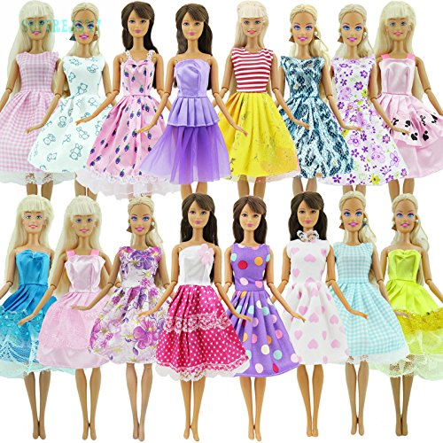 WALLER PAA 10 Pcs Handmade Dress Wedding Party Mini Gown Fashion Clothes For Barbie Doll