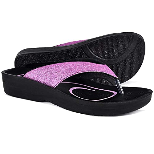 1a4d94c5f AEROTHOTIC Original Orthotic Comfort Thong Sandal and Flip Flops with Arch  Support for Comfortable Walk (US Women 10, Crystal Purple): Amazon.co.uk:  Shoes & ...