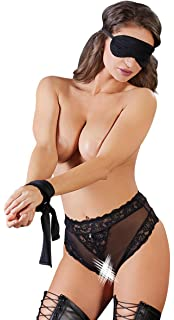 a9c23bb0d4 Cottelli Collection Sexy Lingerie Set with Panties Blindfold and Scarf  Black