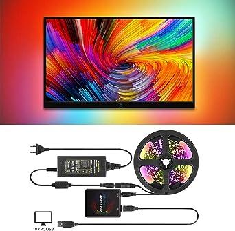 Luz de tira llevada USB de Ambilight, Kit de retroiluminación de ...
