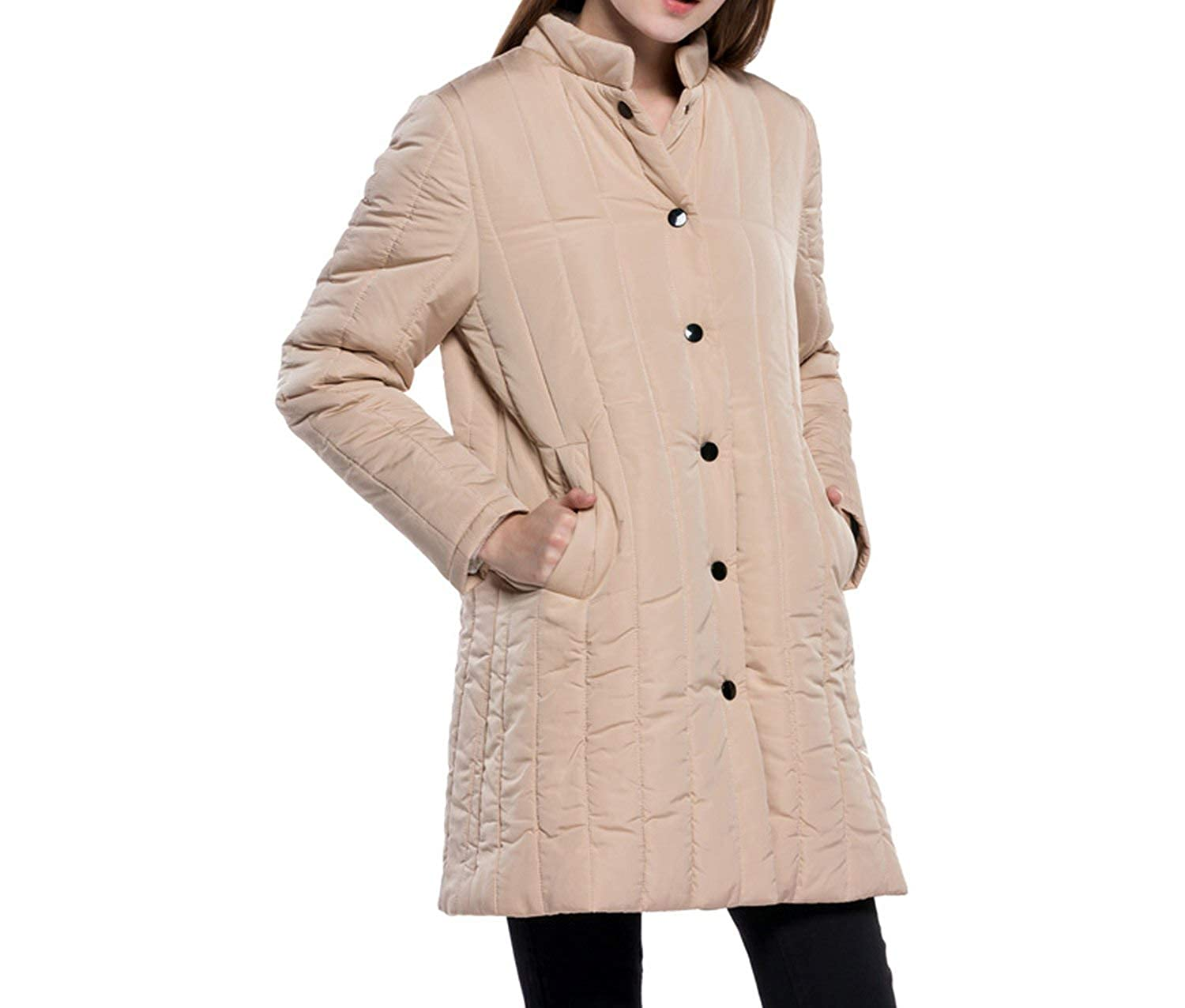 Amazon.com: Show-Show-Fashion outerwear-coats Wadded Winter ...