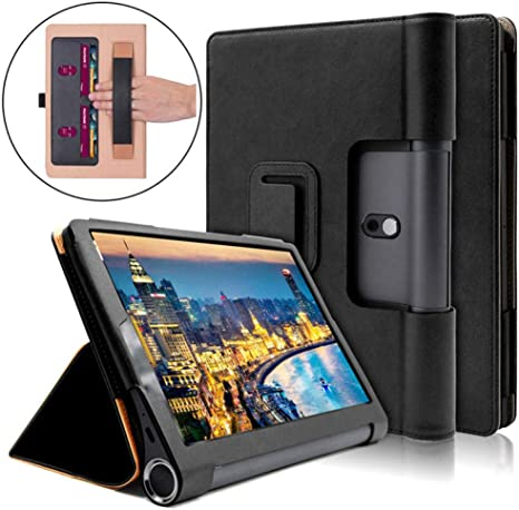 Funda para Lenovo Yoga Smart Tab YT-X705F Funda para Tableta Funda para Lenovo Yoga Tab 5 10.1 Pulgadas Soporte para Mano Soporte Skin Shell-Negro: Amazon.es: Informática