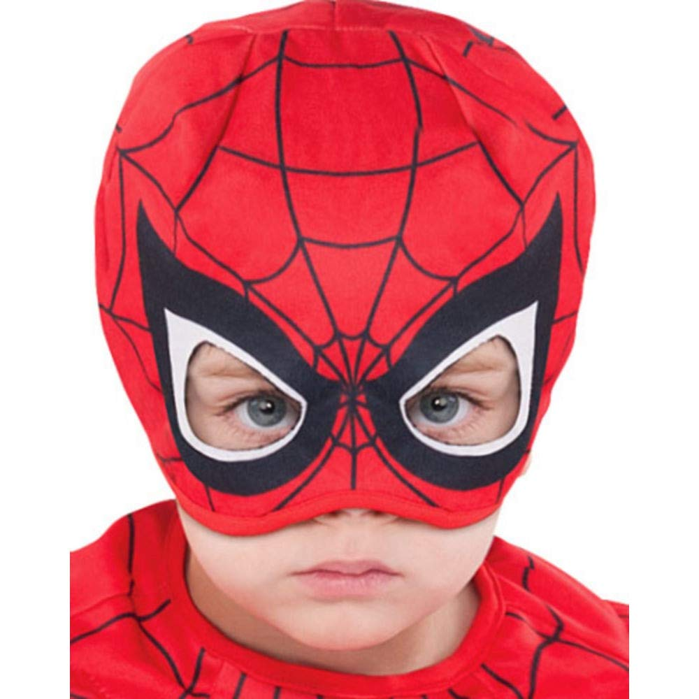 Party City Classic Spider-Man Muscle Halloween Costume for Toddler Boys, 3-4T, Includes Headpiece by Party City (Image #2)