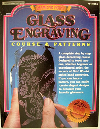 Diamond Point. Glass Engraving. Course & Patterns. #14-0850.
