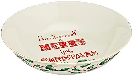 Christmas Bowls And Platters.Lenox Home For The Holidays Sentiment Bowl Ivory