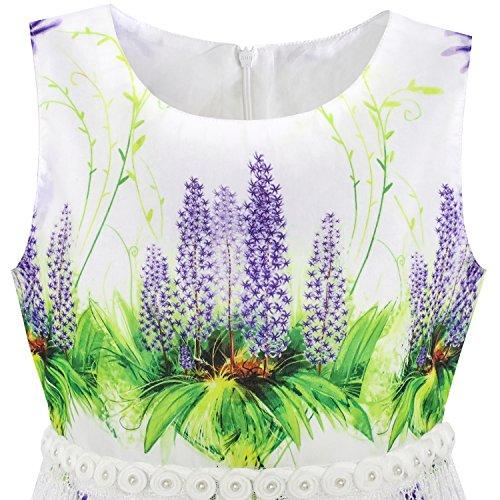 cdfa8036a Sunny Fashion Girls Dress Sunflower Bubble Lily Flower Garden Print ...