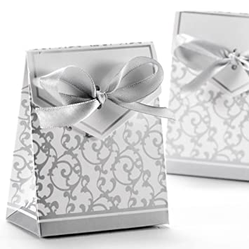 Amazoncom 50pcs Wedding Favour Candy Boxes Gift Boxes With