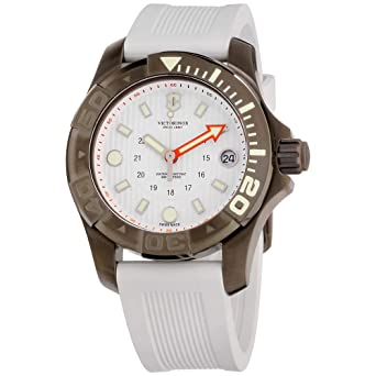3da849f49bfc Amazon.com  Victorinox Dive Master 500 White Dial Silicone Strap Men s  Watch 2415561  Victorinox Swiss Army  Watches