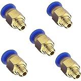 SIENOC 3Dプリンター ワンタッ継手 PC4-M6 1.75mmフィラメント用PTFE 外径4mm接続 RepRap 5個セット