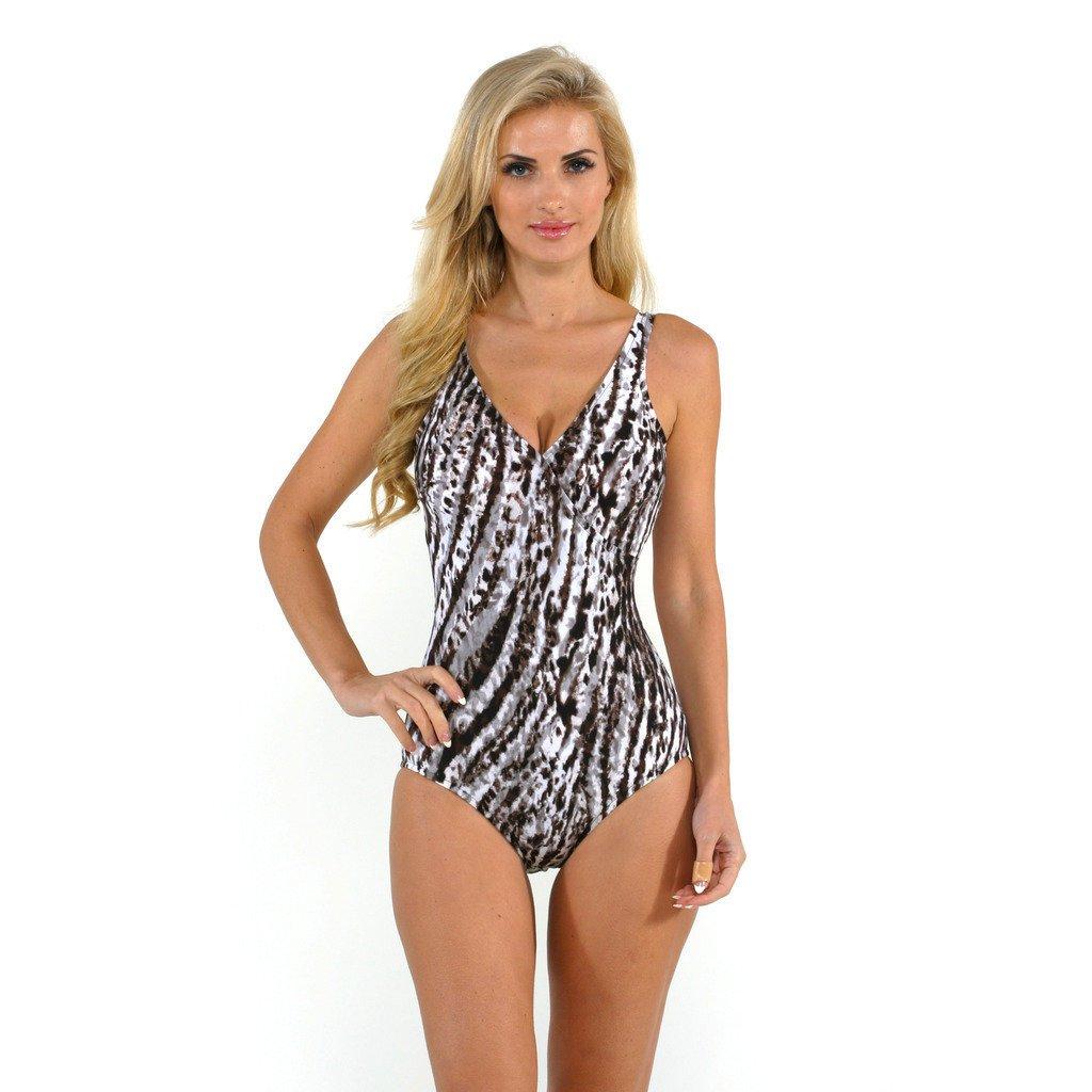 Magicsuit by Miraclesuit Women's Snow Leopard Macarena One Piece Swimsuit 8 Brown