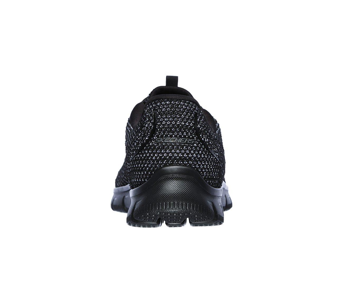 Skechers Sport Women's Empire Fashion Sneaker B07FM9RGVR 6.5 (B)M US Black Knit