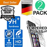 iPhone 7 PLUS & 8 PLUS [5.5] 2Pack [Tempered Glass] Screen Protector [9H+] HD [Bubble Free] Drop Resistant [Case Friendly] Laser Cut [Anti Scratch] Shock Absorbent [Oleophobic Coating] Easy Install