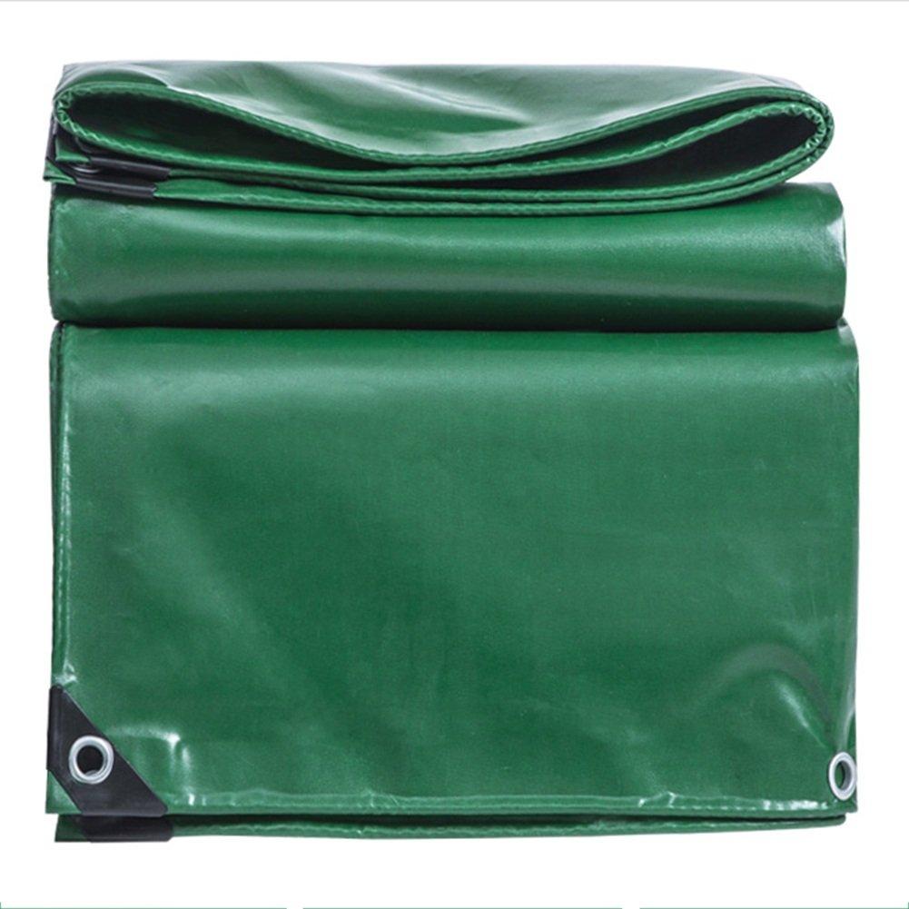 CHAOXIANG ターポリン リノリウム 防水 厚い 耐摩耗性 ボタンホール シェード布 雨布 PVC、 530G/㎡、 13サイズ (色 : Green, サイズ さいず : 3 * 6m) B07FXX1C5H  Green 3*6m