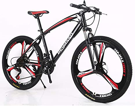Link Co Bicicleta de montaña 21 velocidades 3 radios 26 Pulgadas Ruedas Doble Freno de Disco Cuadro de Aluminio Bicicleta,Red: Amazon.es: Deportes y aire libre