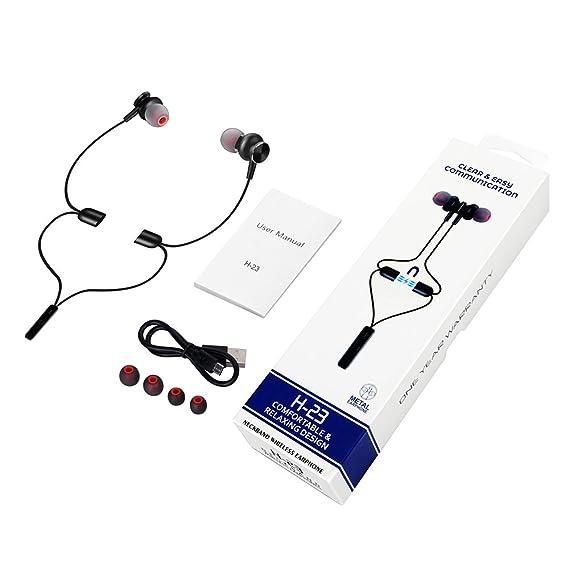 3a0cceba78 Amazon | XTDFM ネックレス Bluetooth ヘッドフォン 8時間再生 HDステレオ 磁気ワイヤレスイヤホン 耐汗性 ナノコーティング  aptX Bluetooth 4.2 H-23 スポーツ ...