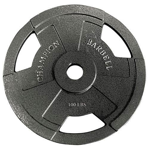 Champion Barbell Olympic Grip Plate (25-Pound) by Champion Barbell