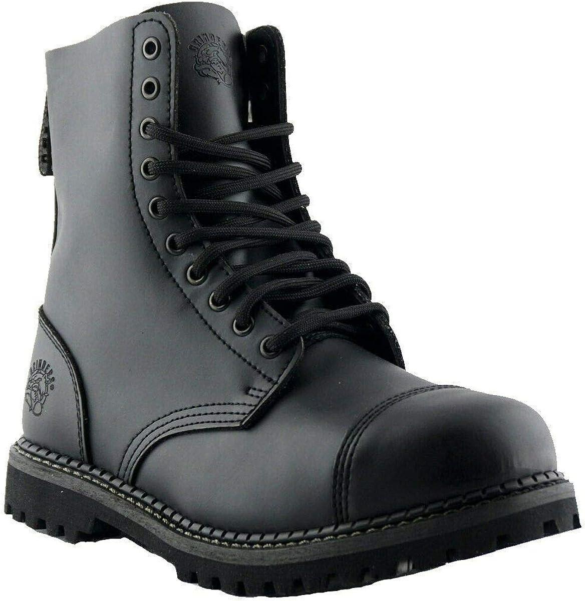 Grinders Stag CS Unisex Black Leather