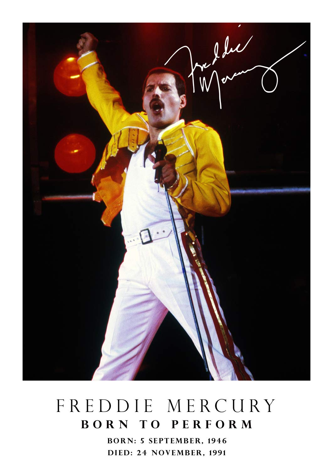 Freddie Mercury Poster Tribute Signed Copy 31 Born 5 September 1946 Died 24 November 1991 Queen Music Icon Legend A3 Poster Print Picture Buy Online In Indonesia At Desertcart 55414101