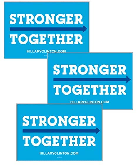 amazon com 2016 hillary clinton stronger together campaign poster