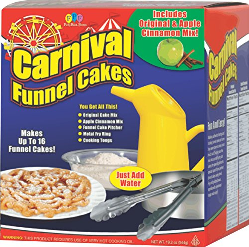 funnel cake kit deluxe carnival funnel cake kit foods cakes powdered sugar 4418