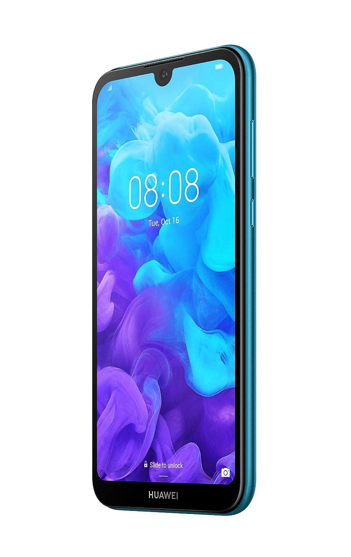 4G, Sapphire Blue 5,71 Pouces, 16Go, Double Nano SIM + MicroSD, Android 9.0 Smartphone D/ébloqu/é Huawei Version Fran/çaise Y5 2019