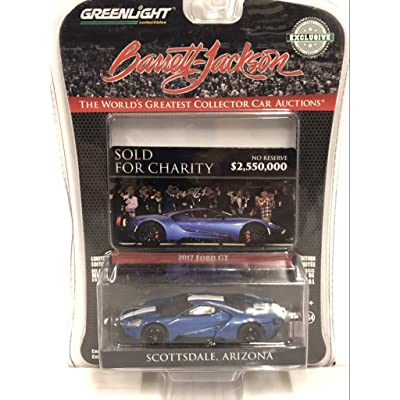 2020 Ford GT Liquid Blue with White Stripes Barrett-Jackson Scottsdale, Arizona Ignite Program Charity Car Hobby Exclusive 1/64 Diecast Model Car by Greenlight 29964: Toys & Games