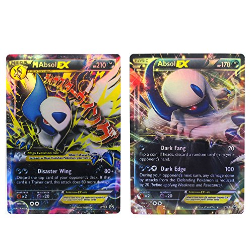 Absol Collection Cards Set - Mega EX XY63 - EX XY62 Packed in Box and Sleeves