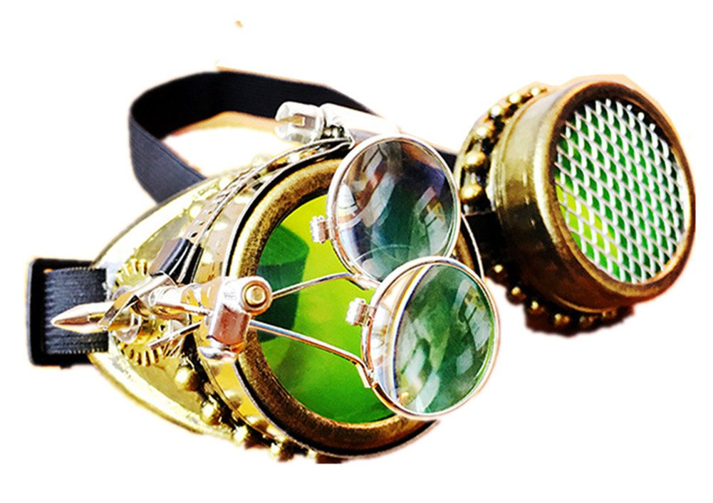 JACKDAINE Steampunk Industrial Retro Goggles Goggles Halloween Stage Party