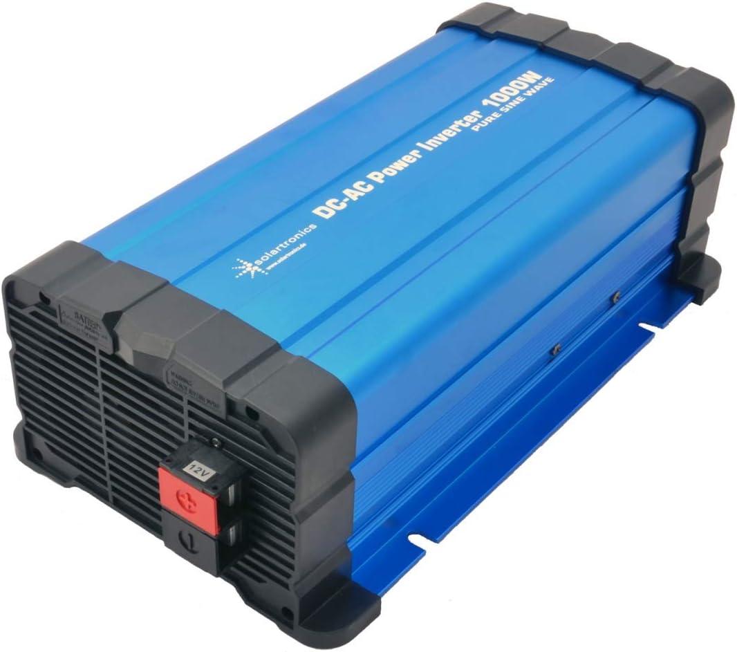 solartronics Inversor de corriente FS1000D (12 V, 1000/2000 W, puro Sinus), color azul