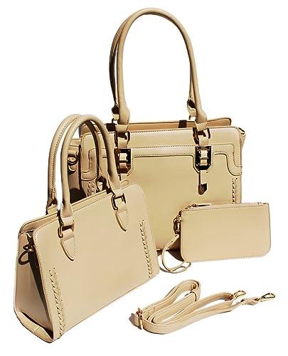 9449e9ad9c52 Women's Crossbody Satchel 3 Piece Set Matching Bag, Purse, Wallet ...