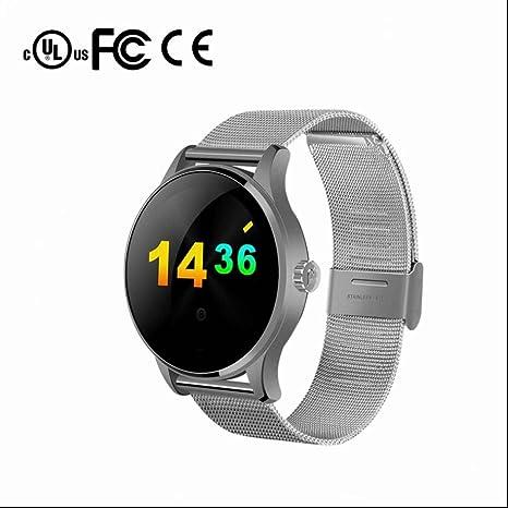 Reloj inteligente con Pulsómetro con Alertas de mensajes y Cámara Remota Anti-pérdida Podómetro Fitness