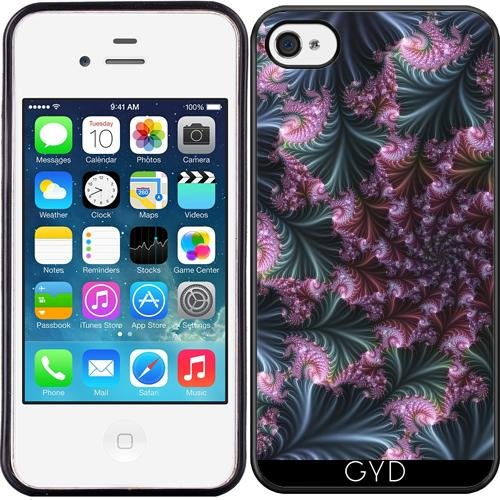 Coque Silicone pour Iphone 4/4S - 3d Fractal by Dedoma