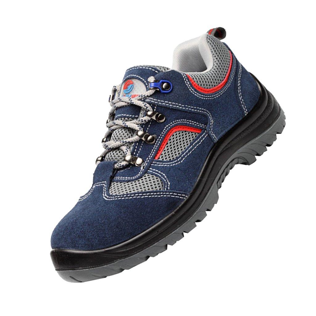 MagiDeal Men's Leather & Steel Anti-smash Safety Steel Toe Work ShoesToe Work Boots for Heavy Duty Work Wide Fit - EU 44 US 10.5 UK 9.5