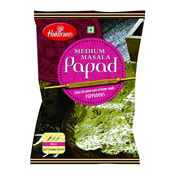 Haldiram's Medium Papad, 200g