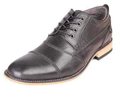 Mens Kunsto Men's Leather Cap Toe Oxford Shoe Coupons Size 45
