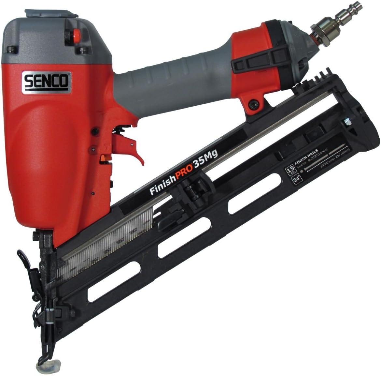 Senco 4G0001N FinishPro 42XP 15-Gauge 1-1//4-Inch to 2-1//2-Inch Finish Nailer wit