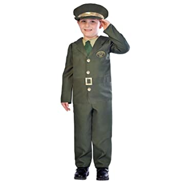 e012a5065bb Buy Fancy Dress VIP 5-6 Kids Boys Ww2 Military Officer Army Sergeant Fancy  Dress Book Week Costume Online at Low Prices in India - Amazon.in