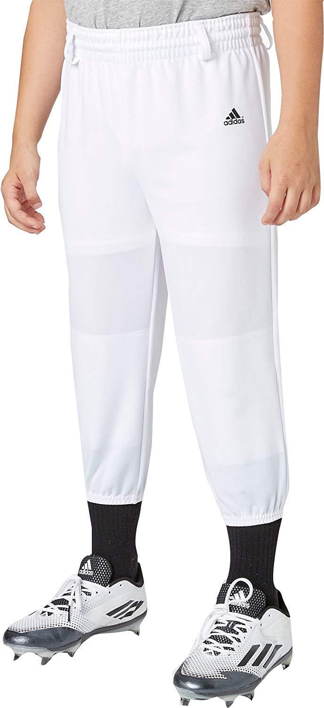 Adidas Boys' Triple Stripe Pull Up Baseball Pants (White, XXS) by adidas