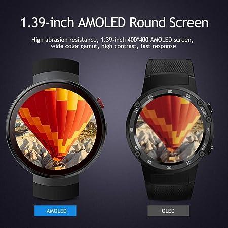 LEMFO LEM7 - Android 7.0 4G LTE Smartwatch, Reloj teléfono cámara de 2MP, MT6737 16GB ROM, traductor Incorporado, Banco de energía, Bluetooth/GPS / Monitor ...